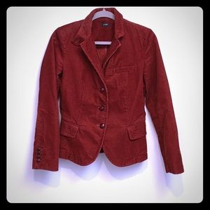 J. Crew Rust color Corduroy Blazer